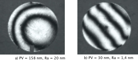 Interferograms before and after Magnetic-Abrasive Machining